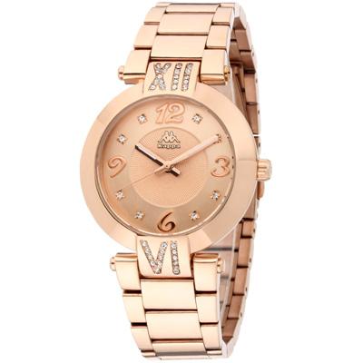 Kappa 低調奢華不鏽鋼時尚腕錶-玫瑰金/40mm