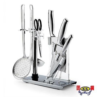固鋼 總舖師一體成型不鏽鋼餐廚7件組