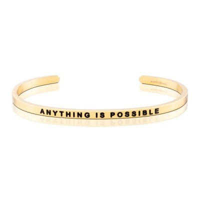 MANTRABAND Anything Is Possible一切皆有可能 悄悄話金色手環