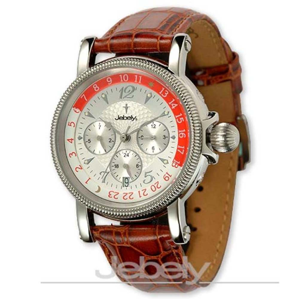 Jebely瑞士機械錶-流森新古城系列-三眼造型機械錶-白/39mm