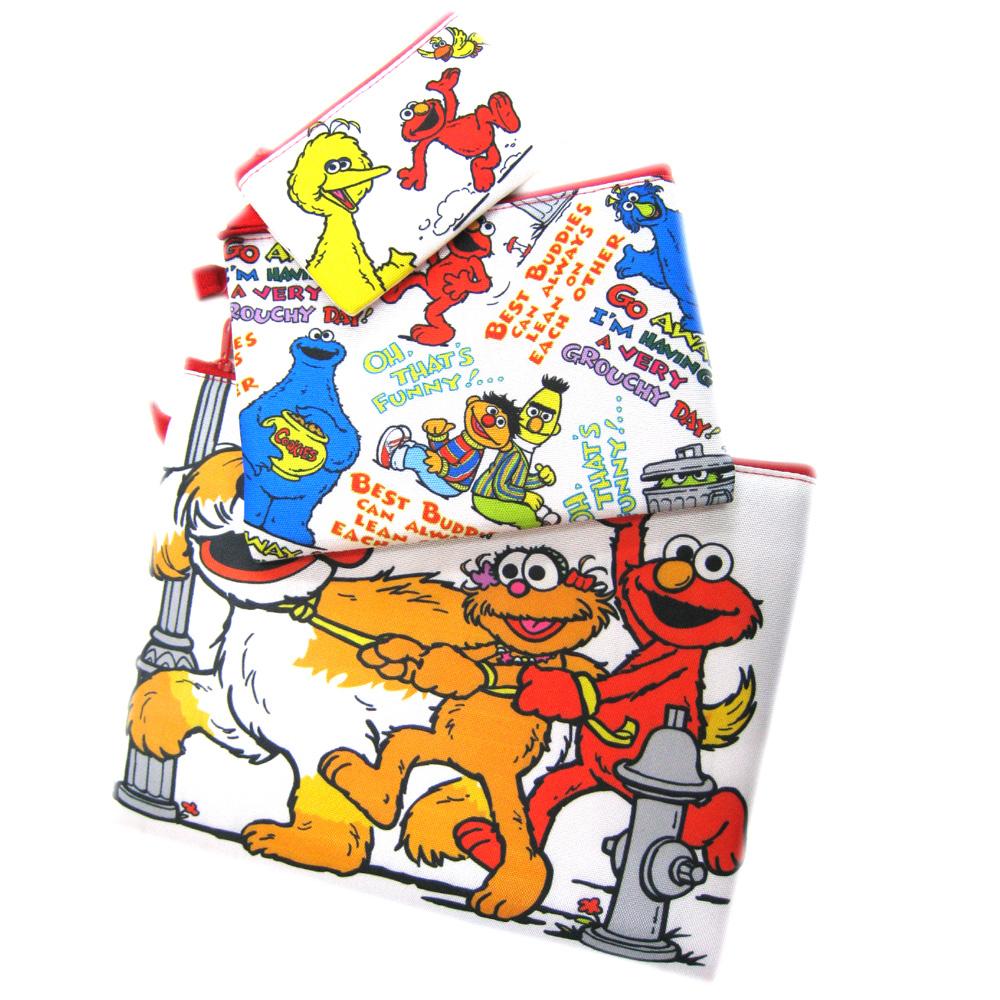 芝麻街Sesame Street三合一 收納包/ 平板包 / 手機袋