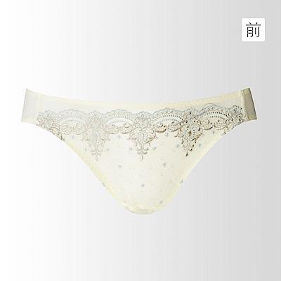 蕾黛絲-高脅邊真水搭配低腰內褲M-L(清雅黃)