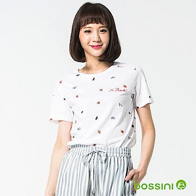 bossini女裝-圓領短袖上衣18白