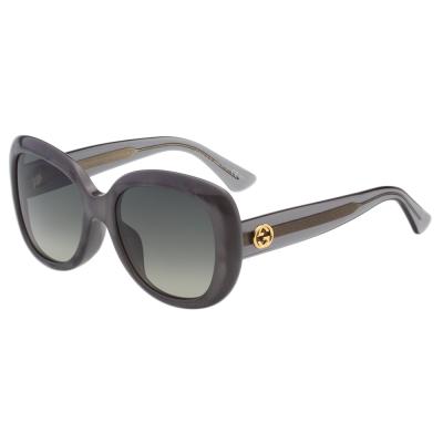 GUCCI太陽眼鏡 復古百搭  灰色 GG3830FS