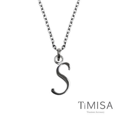 TiMISA《字母墜》純鈦項鍊(E)