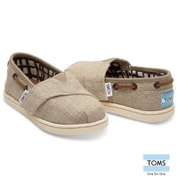 TOMS 帆布抽繩懶人鞋-幼童款