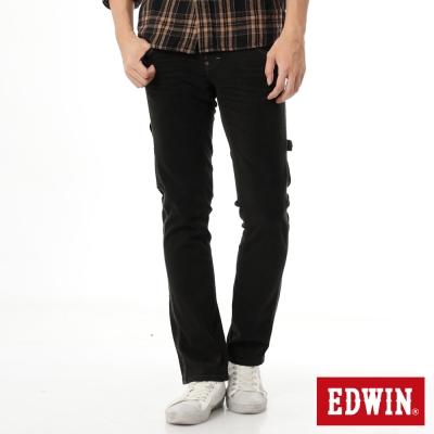 EDWIN ZERO多功能口袋直筒工作褲-男-黑灰色