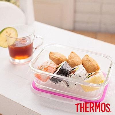 THERMOS 膳魔師 耐熱玻璃保鮮盒1.05L(Z-GFC1050R-PK)