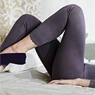 發熱褲 eks瞬間發熱 九分衛生褲M-EL (紫) 黛安芬