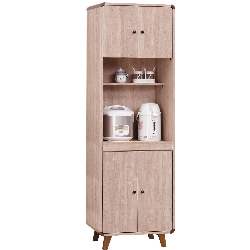 品家居 柏克萊2尺收納高餐櫃-60x40x192cm-免組