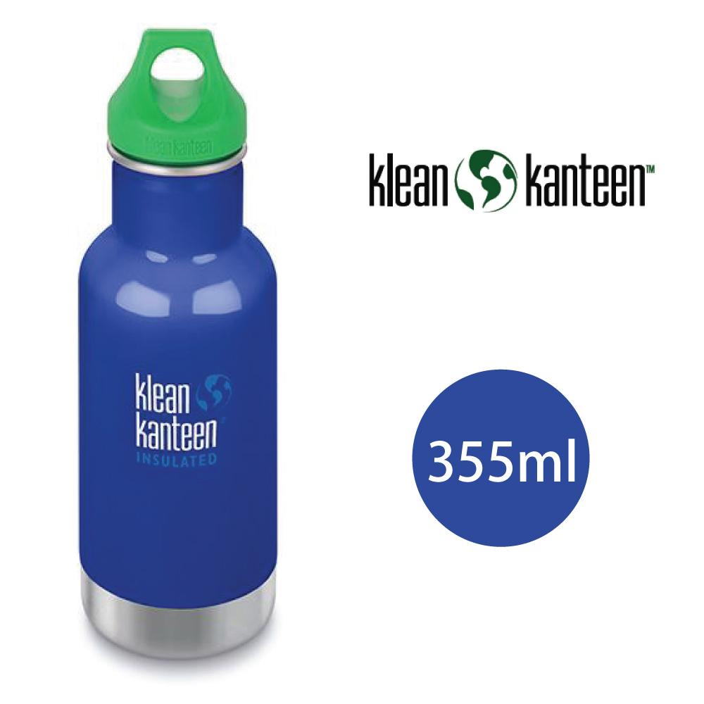 【美國Klean Kanteen】幼童窄口不鏽鋼保溫瓶-355ml-沿海藍