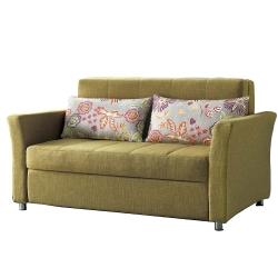 AT HOME-牛頓綠麻布沙發床