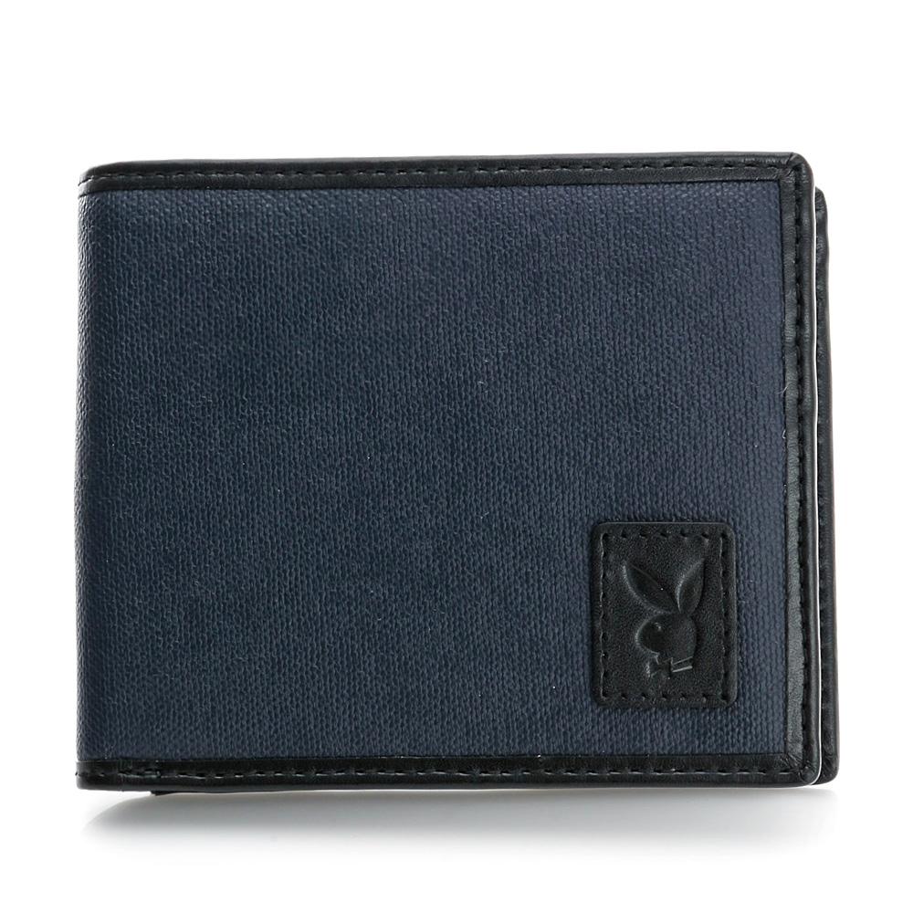 PLAYBOY- 潮流東岸系列 零錢袋短夾-深藍色