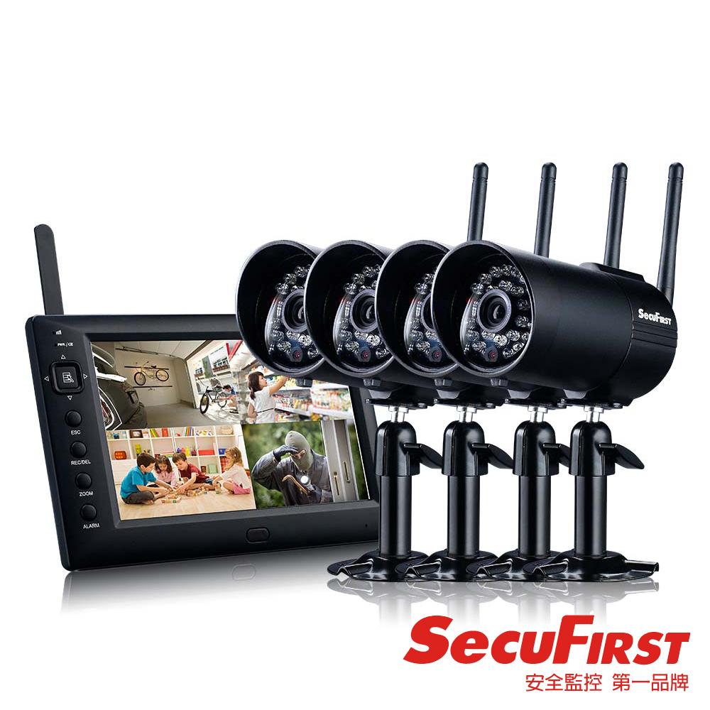 SecuFirst DWS-B011Z (一機四鏡)數位無線監視錄影機
