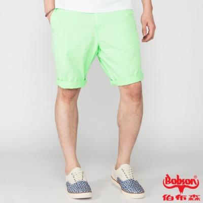 BOBSON 男款純棉短褲(亮綠40)