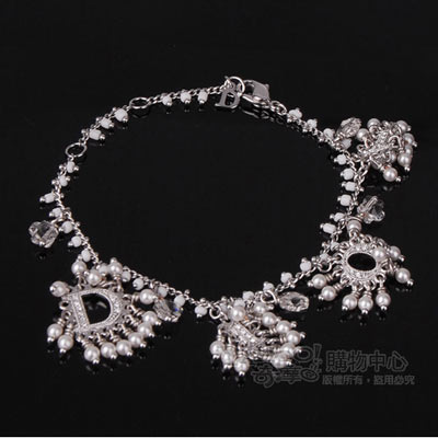 Dior 吉普賽風純白亮眼手鍊-亮眼白色