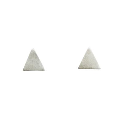 Dogeared 三角形耳環 銀色 迷你立體版 附原廠盒