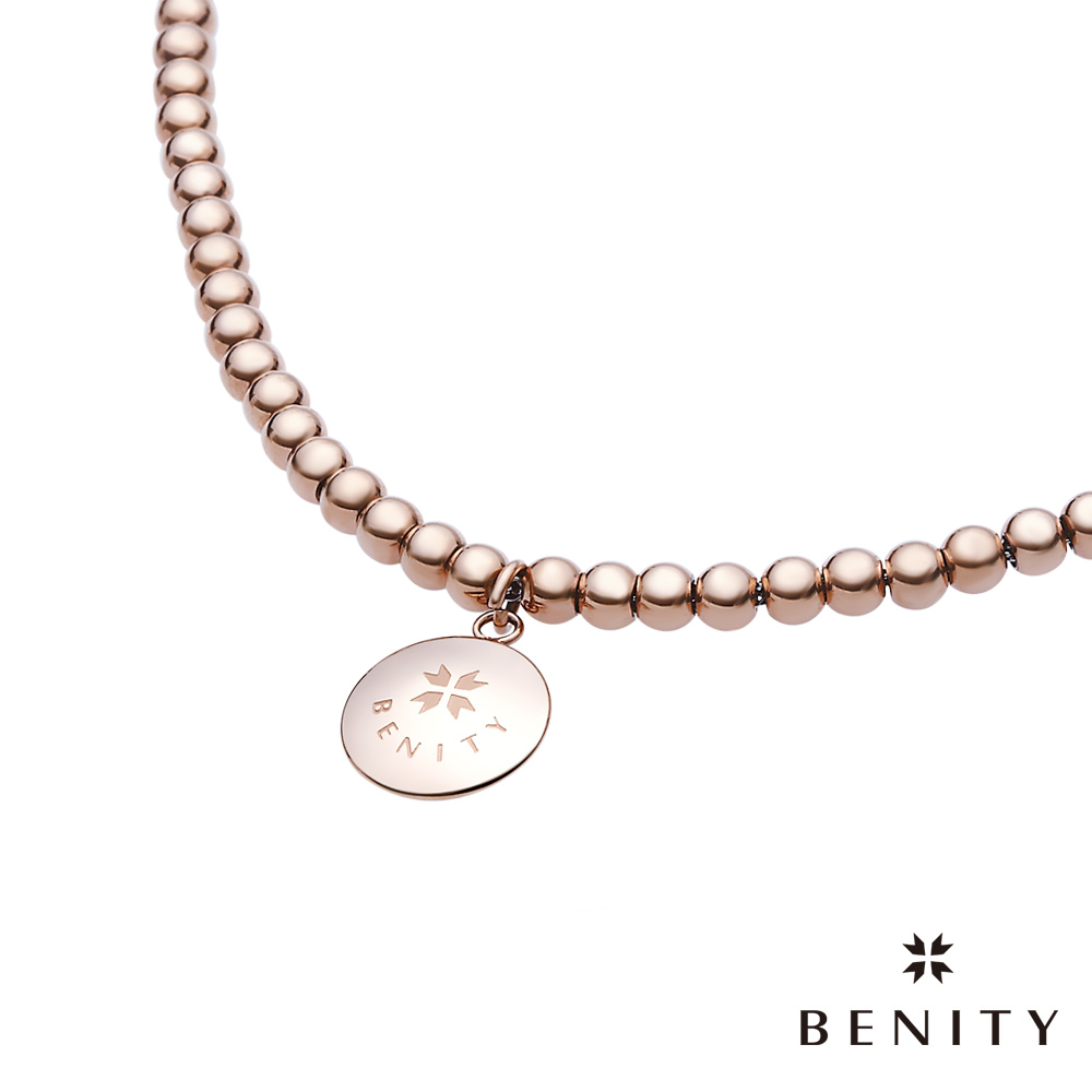 BENITY 香檳氣泡 316白鋼/西德鋼 串珠 無彈性 IP玫瑰金 女手鍊