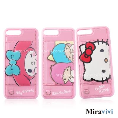 Sanrio三麗鷗iPhone 8/7 Plus可立式經典大頭皮革保護套