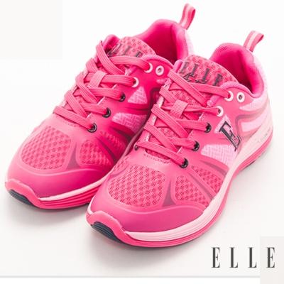ELLE active俏麗活潑撞色流線設計運動休閒鞋