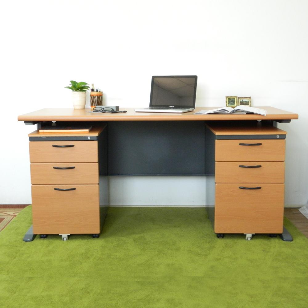 時尚屋 CD150木紋辦公桌櫃組 寬150cm-DIY