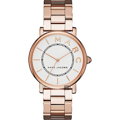 Marc Jacobs M.A.R.C 當代腕錶(MJ3523)-銀x玫塊金/36mm