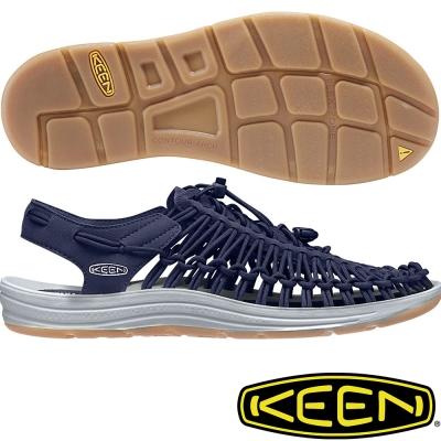 KEEN 男戶外護趾涼鞋 Uneek Round Cord-1017032藍