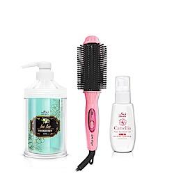LoveWays羅崴詩 八排式電熱造型梳贈羅崴詩寵愛洗髮+茶花護髮油