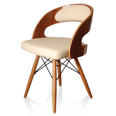 Vincenzo維琴佐單椅(牛皮)-米色