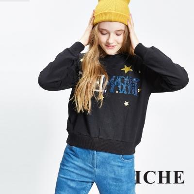 ICHE 衣哲 字母星星造型上衣 兩色