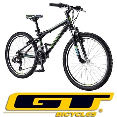 GT AG-24 鋁合金Shimano21速定位變速登山車(黑)