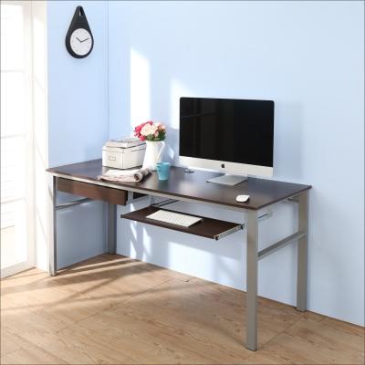 BuyJM低甲醛防潑水160公分附抽屜鍵盤穩重型電腦桌-DIY