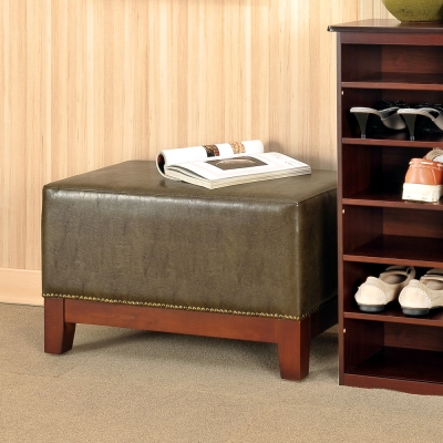 Asllie 海葛腳凳穿鞋椅/腳凳/床前椅-雲彩綠-61x36x37.5cm