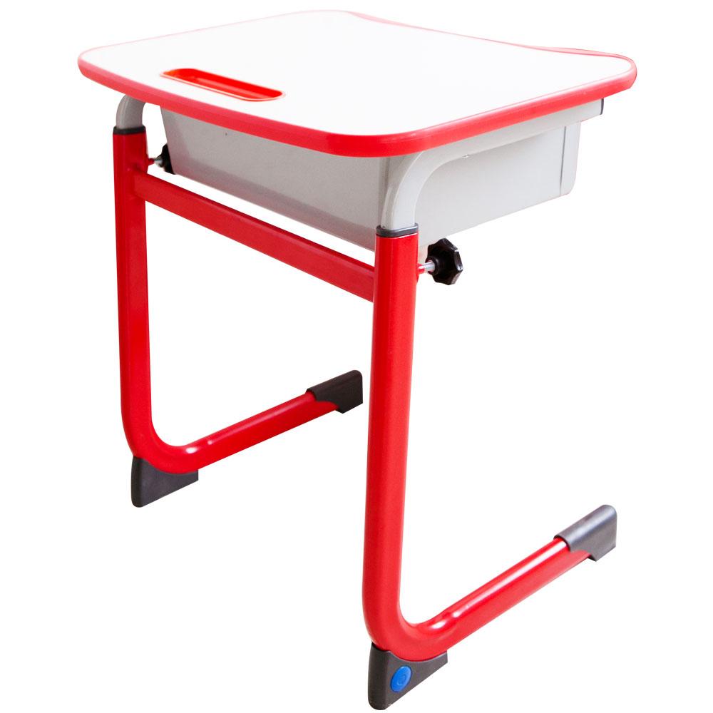 WSH日式快樂兒童升降學習桌(單桌-紅色)