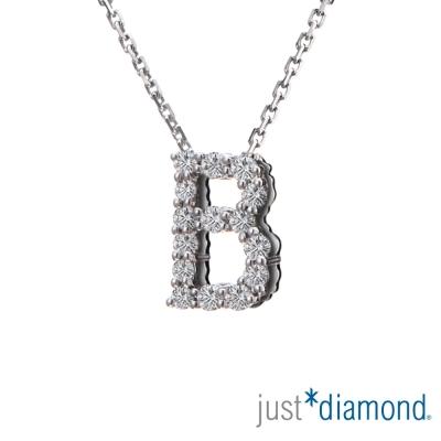 Just Diamond Love Words系列18K金鑽石墜子-B