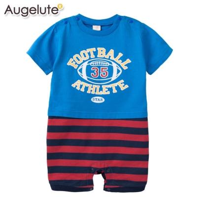 baby童衣-包屁衣-短袖連身衣橄欖球-41133