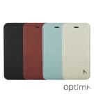 Optima iPhone 7 側掀站立型皮套 針織系列