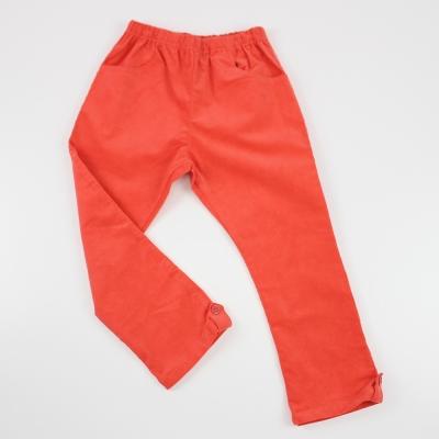 愛的世界 SUPERKIDS  鬆緊帶條絨休閒直筒褲/10~12歲