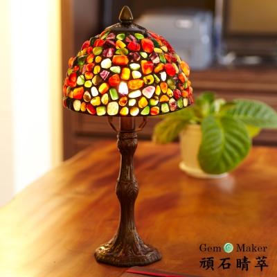 GemMaker頑石睛萃  手工製8吋寶石檯燈(三彩瑪瑙)