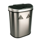 美國NINESTARS時尚不銹鋼感應垃圾桶70L(資源回收系列)