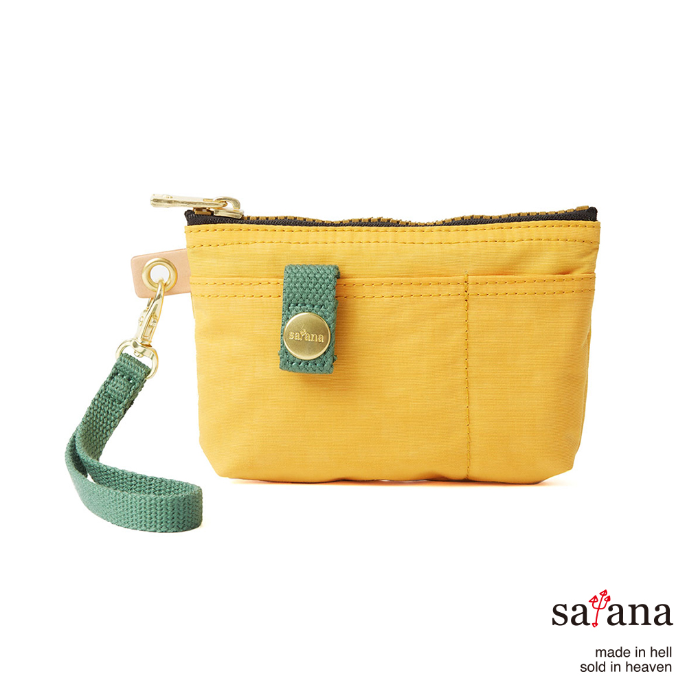 satana - 實用拉鍊化妝包/零錢包 - 琥珀黃
