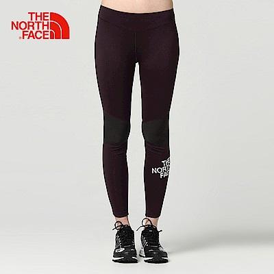 The North Face北面女款紫色吸濕透氣運動緊身褲
