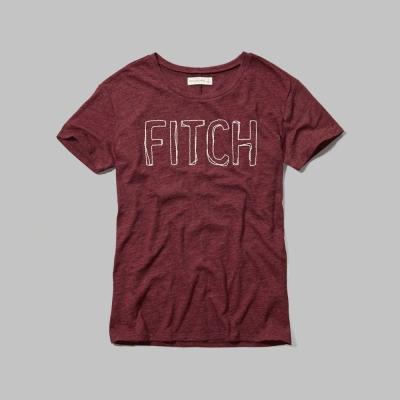 AF a&f Abercrombie & Fitch 女T恤 紅色 0016