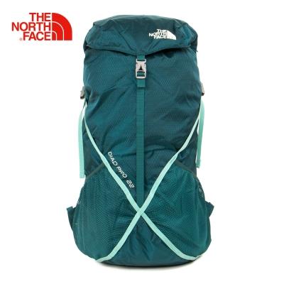 The North Face綠色可收納式技術背包
