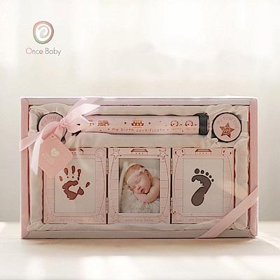OnceBaby新生兒紀念禮品套裝(粉紅桌上型)