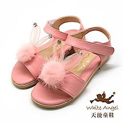 天使童鞋 雪妍免涼鞋(中-大童)J852-粉