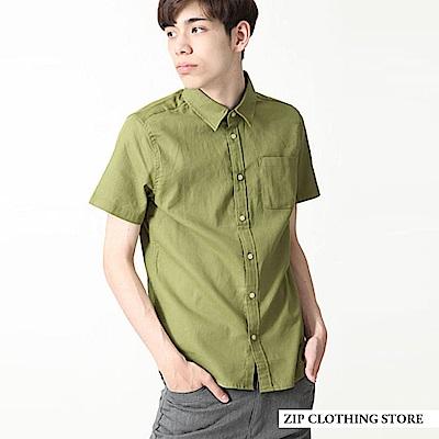 巴拿馬短袖襯衫(12色) ZIP日本男裝