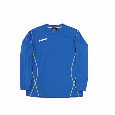 KAPPA義大利時尚精典型男ALL DRY長袖圓領衫~經典藍