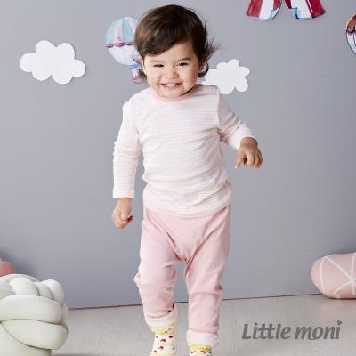 Little moni 純棉家居系列條紋上衣 淺珊瑚