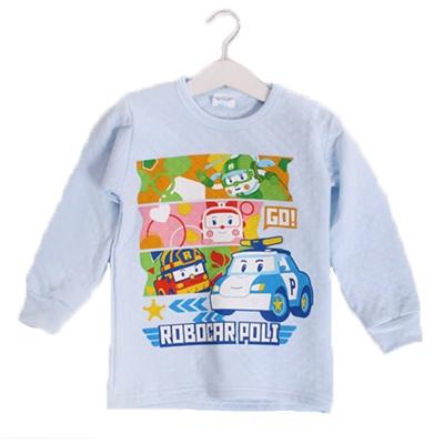 POLI三層純棉厚保暖衣 藍 k60245